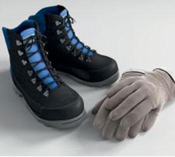 Schuhe und Handschuhe
