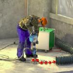 Abbruchhämmer mit Absaugung für staubarme Arbeiten