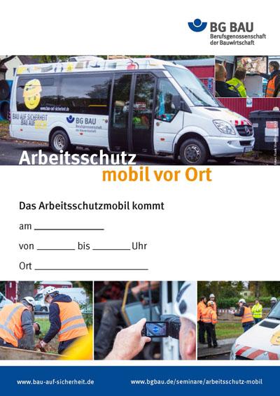 Arbeitsschutz mobil vor Ort - Plakat DIN A3-Format