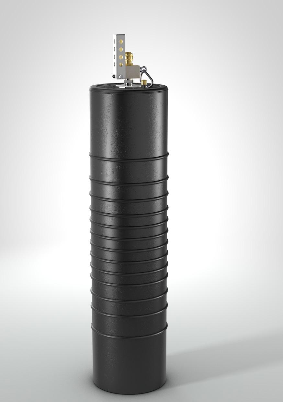 Rohrabsperrblase mit fest montiertem Überdruckventil