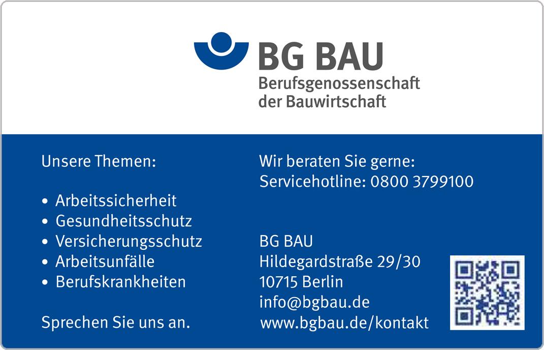 """Vorderseite der BG BAU-Karte """"Standard Plus"""""""
